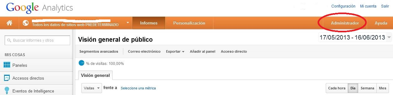 Google Analytics: Administrador