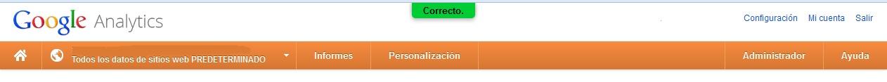 Google Analytics: configuración del buscador interno