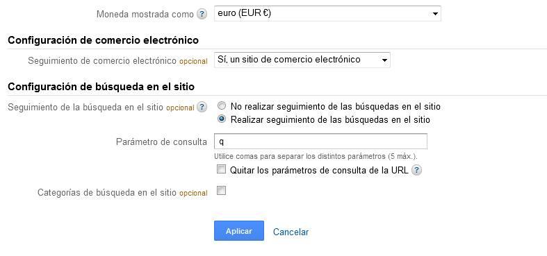 Google Analytics: configuración del perfil