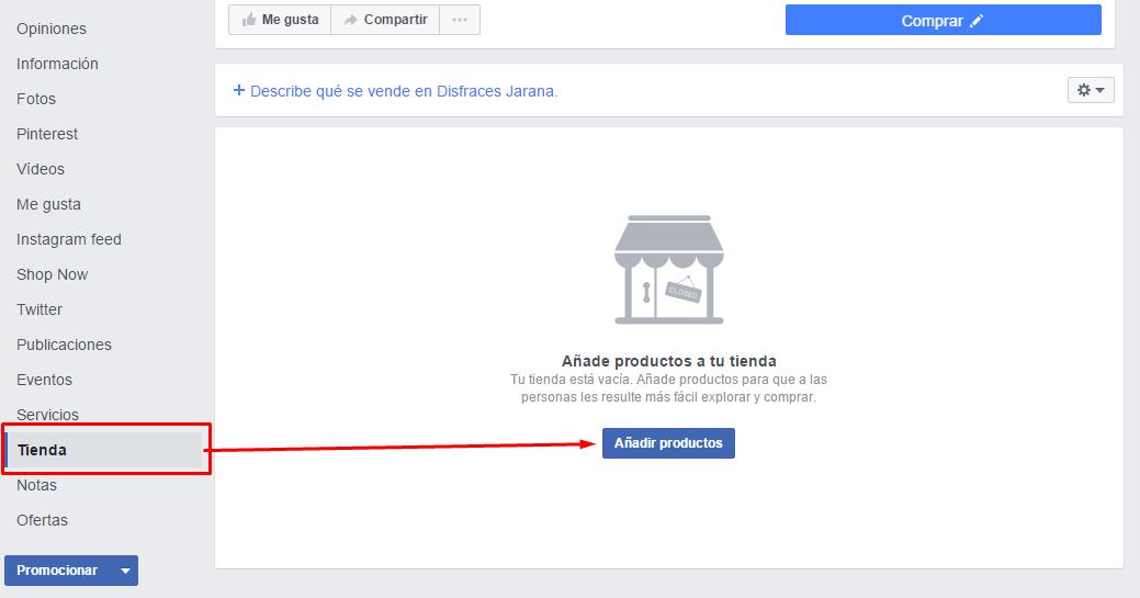 Añadir productos a la tienda online de Facebook