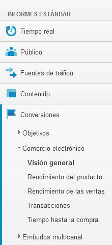 Google Analytics: conversiones