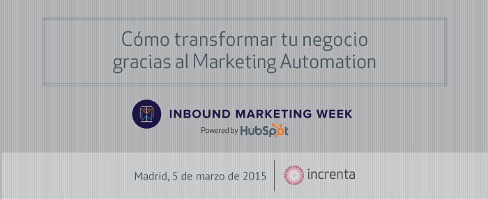 El Inbound Marketing Week 2015 aterriza en Madrid