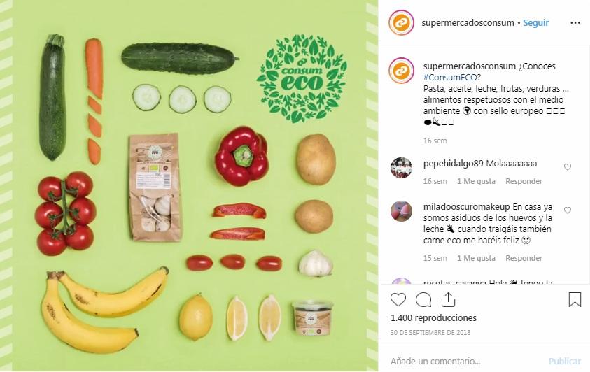 Canal Instagram, Supermercados Consum